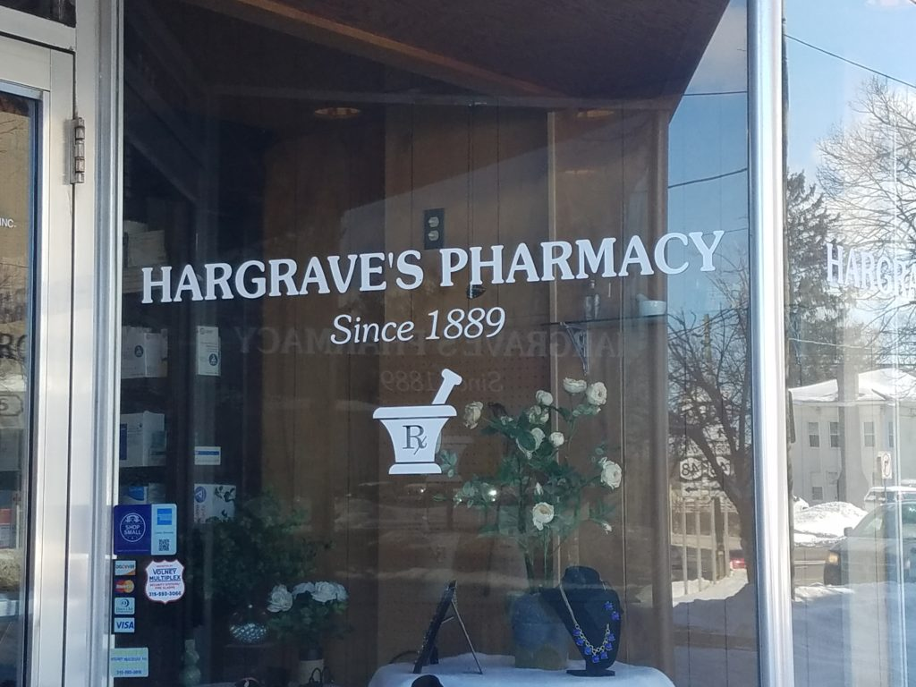 hargraves pharmacy sign